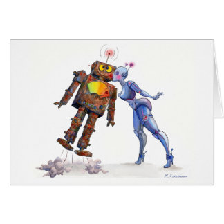 Sweet Robot Love Card
