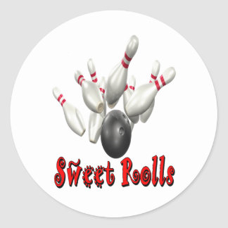 Sweet Rolls Bowling Classic Round Sticker