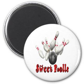 Sweet Rolls Bowling Refrigerator Magnets