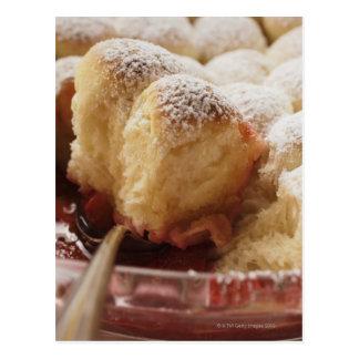 Sweet rolls (Buchteln) with icing sugar Postcard