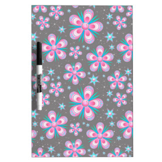Sweet Romantic  Abstract Pink Flowers Pattern Dry-Erase Board