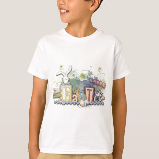 Sweet Romantic Happy Easter Bunny Collage Greeting T-Shirt