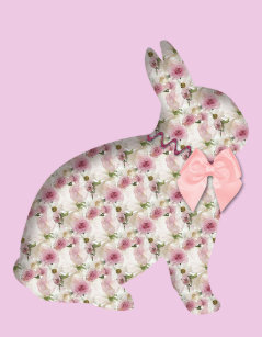 Romantic easter gifts on zazzle sweet romantic happy easter bunny pink gift bag negle Choice Image