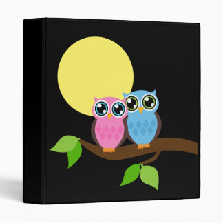 Sweet Romantic Owls 3 Ring Binder