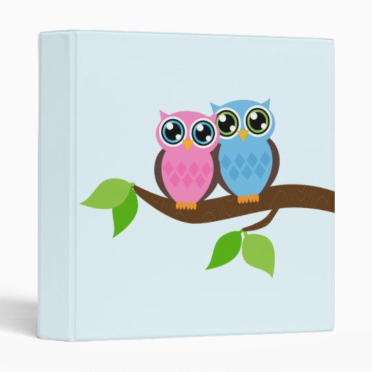 Sweet Romantic Owls Binder
