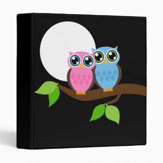 Sweet Romantic Owls Binder