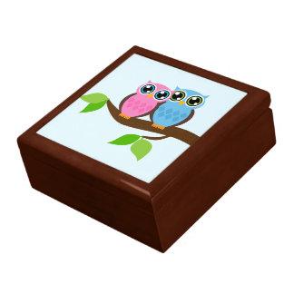 Sweet Romantic Owls Keepsake Box