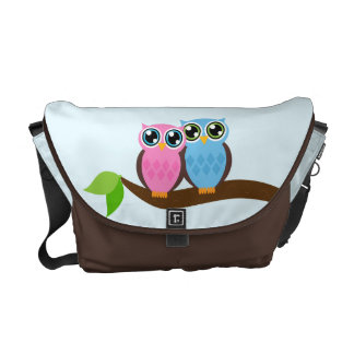 Sweet Romantic Owls Messenger Bag
