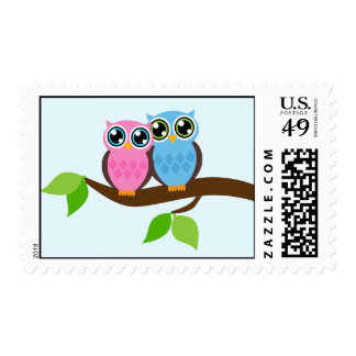 Sweet Romantic Owls Postage