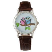 Sweet Romantic Owls Wristwatch