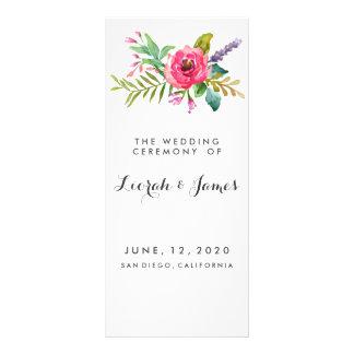 Sweet romantic watercolor flowers custom rack cards