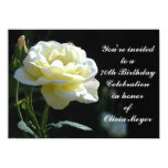 "Sweet Rose 70th Birthday Party Invitations 4.5"" X 6.25"" Invitation Card"