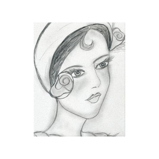 Sweet Rose Flapper Canvas Print