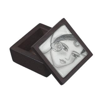 Sweet Rose Flapper Jewelry Box