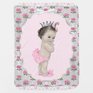 Sweet Rose Pink Princess Baby Baby Blanket