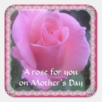 Sweet Rose Square Sticker