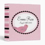 Sweet Rosebird Polka Dot Baby Photo Album Binder