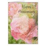 Sweet Roses Anniversary Greeting Card