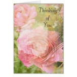 Sweet Roses Thinking of You Greeting Cards