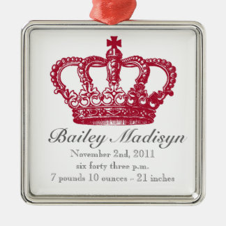 Sweet royal baby ornament-birth announcement metal ornament