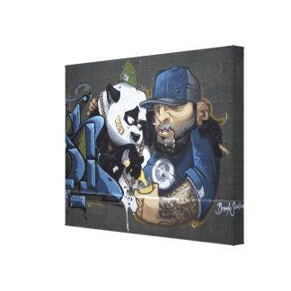 Sweet Sad Panda Found A Buddy Canvas Print