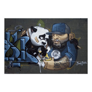 Sweet Sad Panda Found A Buddy Poster