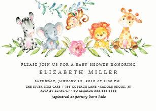 Jungle Baby Shower Invitations Zazzle