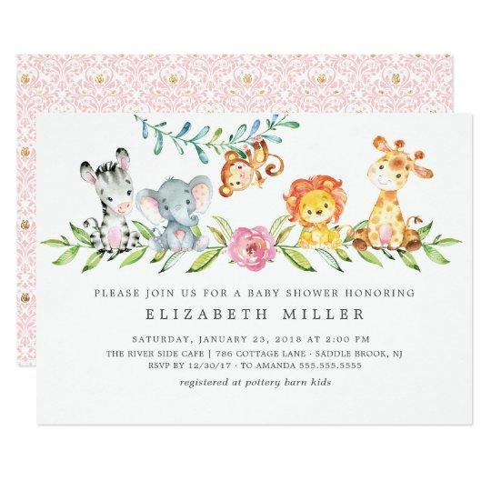 Sweet Safari Animals Baby Shower Invitation Zazzle Com