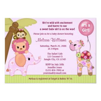sweet_safari_baby_shower_invitation_jungle_girl_ss rcc8e1dbd7f6543a99c59350b06d66eb5_zk9c4_324?rlvnet=1 safari baby shower invitations, 1000 safari baby shower,Girl Jungle Baby Shower Invitations