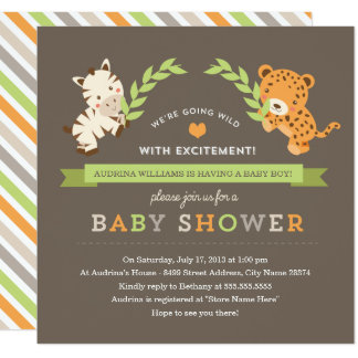 Sweet Safari Baby Shower Invite