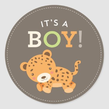 Toddler & Baby themed Sweet Safari Baby Shower Stickers