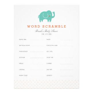 Sweet Safari Baby Word Scramble Game Letterhead