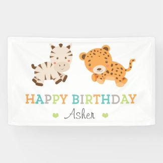 Sweet Safari Birthday Banner