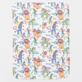 sweet safari cute jungle baby blanket