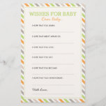 "Sweet Safari Dear Baby Cards<br><div class=""desc"">Fun baby shower activity and keepsake for mommy that your guests to write their own wishes for your new little one.</div>"