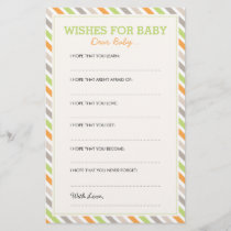Sweet Safari Dear Baby Cards