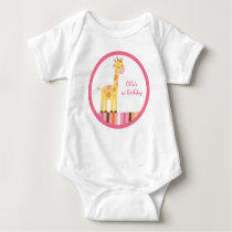 Sweet Safari Giraffe Baby T-Shirt
