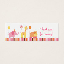 Sweet Safari Jungle Animal Favor Gift Tags