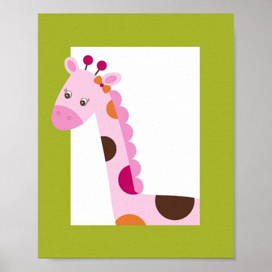 Sweet Safari Jungle Animal Nursery Wall Art Print