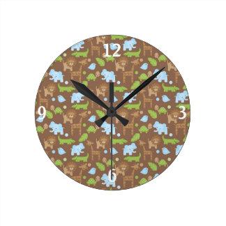 Sweet Safari Jungle Animals Nursery Clock