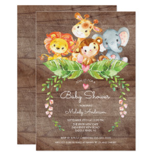 Superior Sweet Safari Jungle Baby Shower Invitation