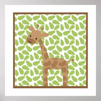 Sweet Safari Little Giraffe Nursery Wall Art