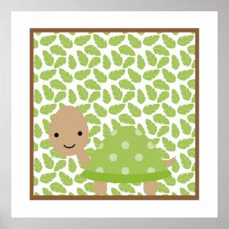 Sweet Safari Little Turtle Nursery Wall Art