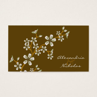 Sweet Sage Cherry Blossom Wedding Website Cards