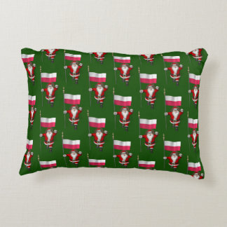 Sweet Saint Nicholas With Banner Of Poland Accent Pillow