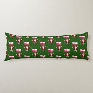 Sweet Saint Nicholas With Banner Of Poland Body Pillow
