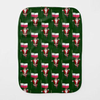 Sweet Saint Nicholas With Banner Of Poland Burp Cloth