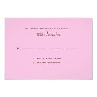 Sweet Sakura Wedding RSVP Card Brown