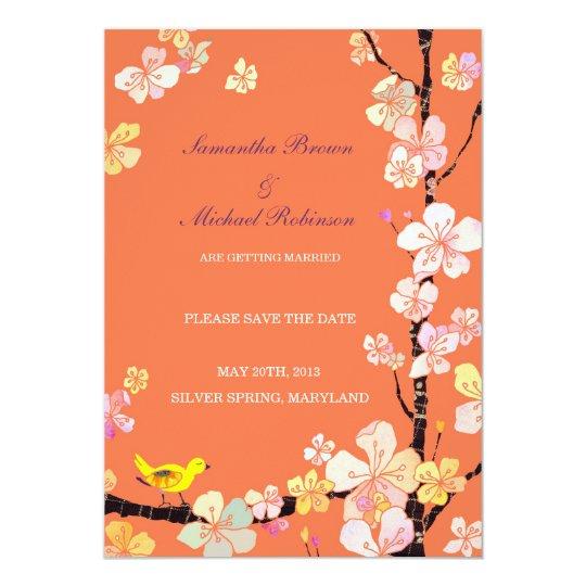 Sweet Sakura Wedding Save the Date Invitations