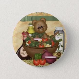 Sweet Salad Round Button